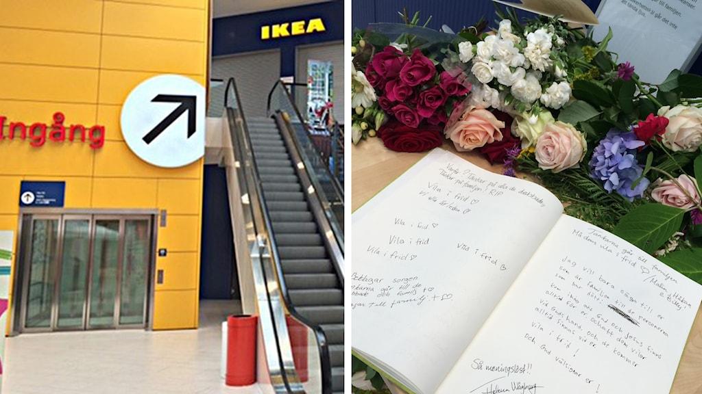 Ikea i västerås öppnar igen i dag.Foto: Jenny Rask/Sveriges Radio och Gilda Hamidi-Nia/Sveriges Radio