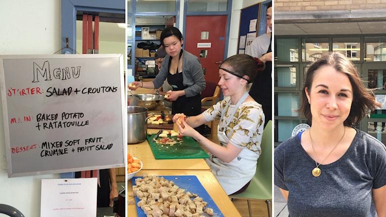 Matmeny, matlagning och Clare Skelton