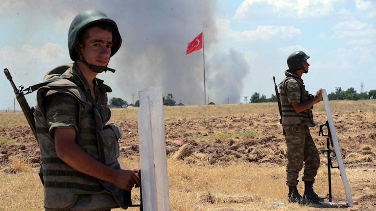 Turkiska soldater. Foto: AP/TT