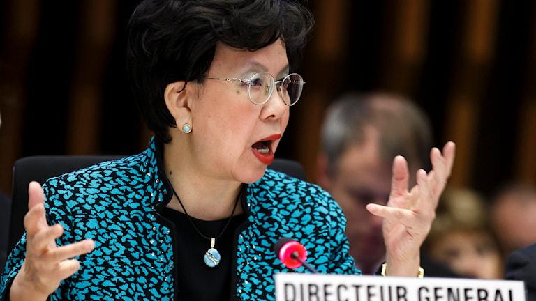WHO:s generaldirektör Margaret Chan