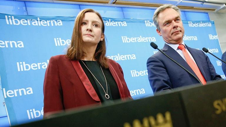 Birgitta Ohlsson och Jan Björklund. Foto: Fredrik Persson / TT.
