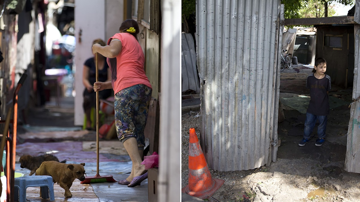 bilder från kåkstaden Le Samaritain. Foto: Kenzo Tribouillard/AFP