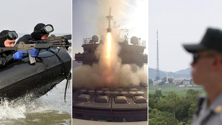 Foto: Sydkoreas flotta samt Lee Jin-man/AP