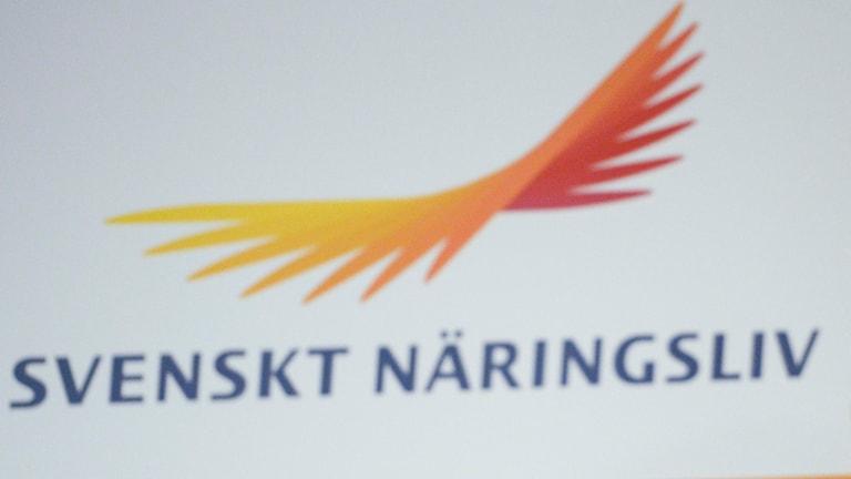 Svenskt näringslivs logotyp. Foto: Janerik Henriksson/TT.