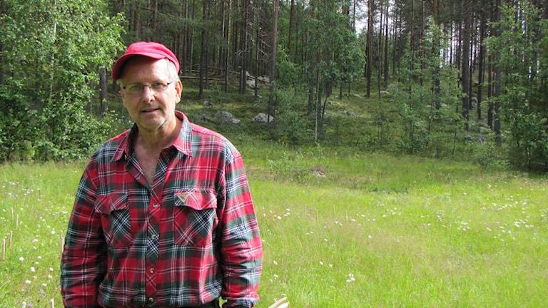 Biologen Mats Karström.  Foto: Ulf Larsson/Sveriges Radio.