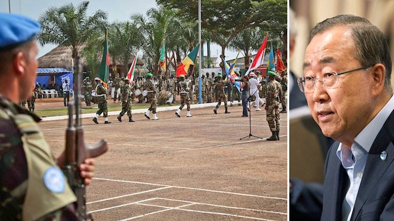 FN-ceremoni i Centralaferikanska republikens huvudstad samt Bangui