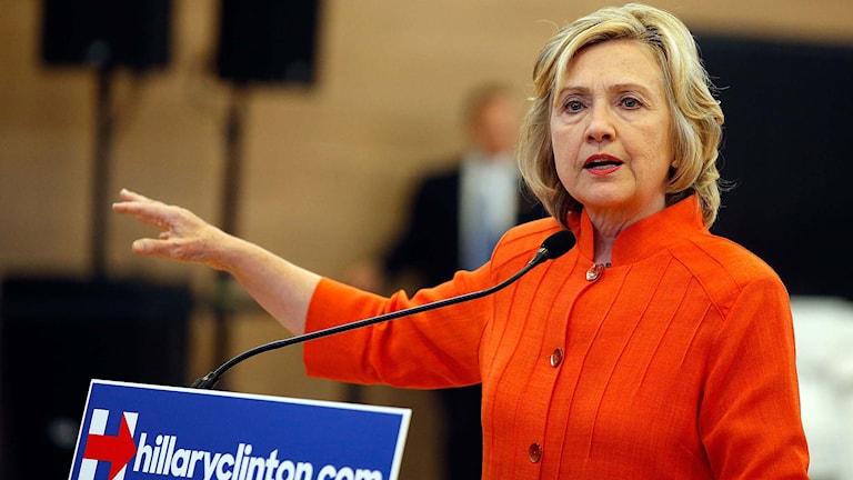 Hillary Clinton. Foto: Isaac Brekken/TT.
