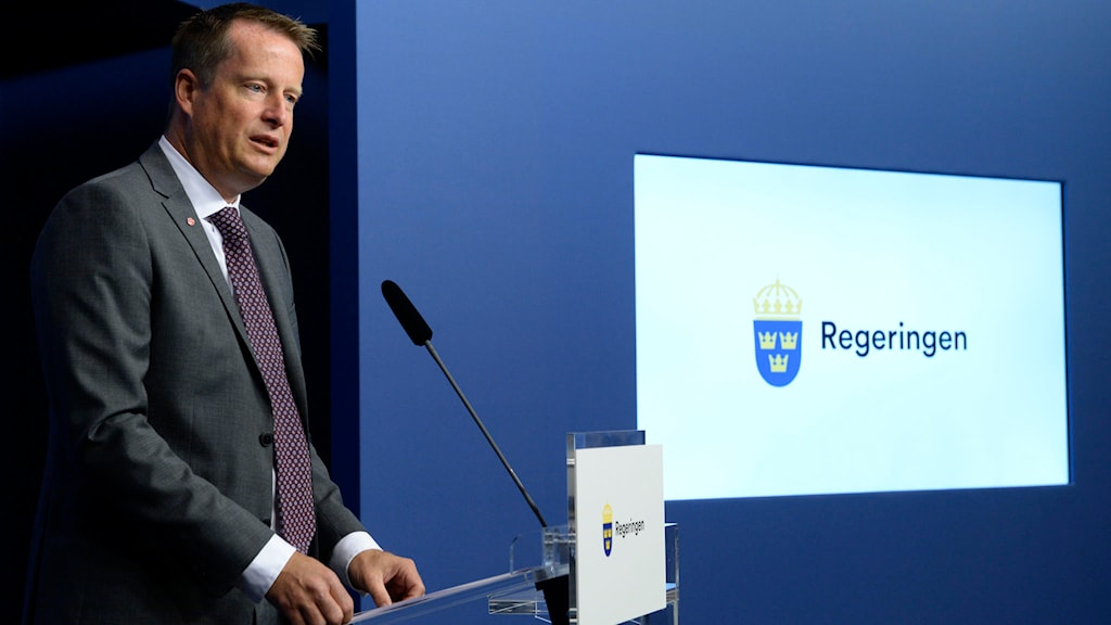 Inrikesminister Anders Ygeman presenterar Sveriges nya strategi mot terrorism vid en presskonferens på fredagen. Foto: Bertil Ericson / TT