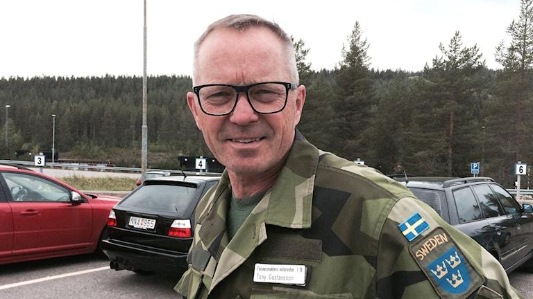 Tony Gustafsson, Försvarsmaktens vinterenhet i Arvidsjaur.