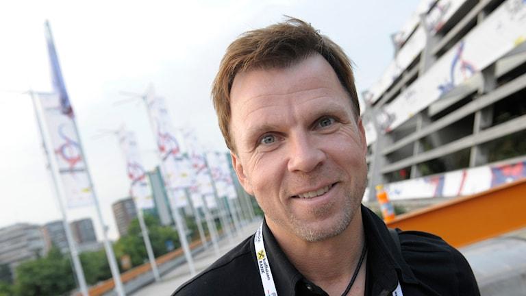 Richard Herrey stämmer Aftonbladet. Foto: Fredrik Sandberg/TT