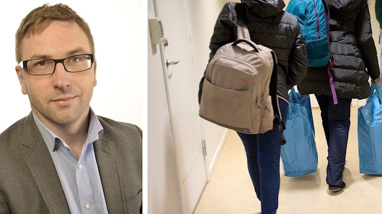 FP:s Fredrik Malm vill minska trycket på Migrationsverket när det gäller asylansökningar. Foto: Riksdagen/Maja Suslin, TT.