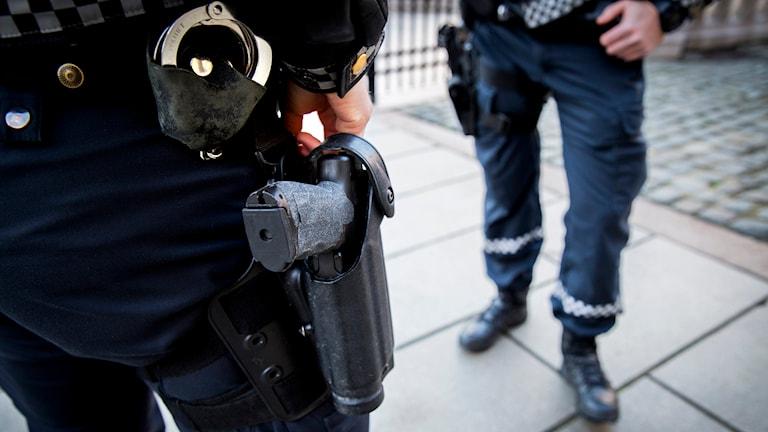 Norsk polis. Foto Erlend Aas/TT.