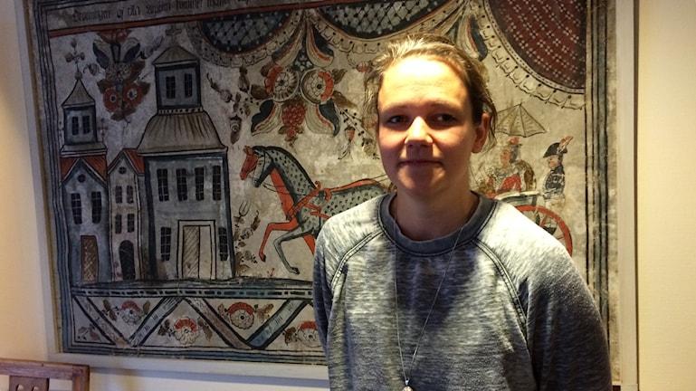 Vilthandläggare Ellinor Therorin vid Länsstyrelsen Dalarna. Foto: Lisa Linder Lindberg / Sveriges Radio.