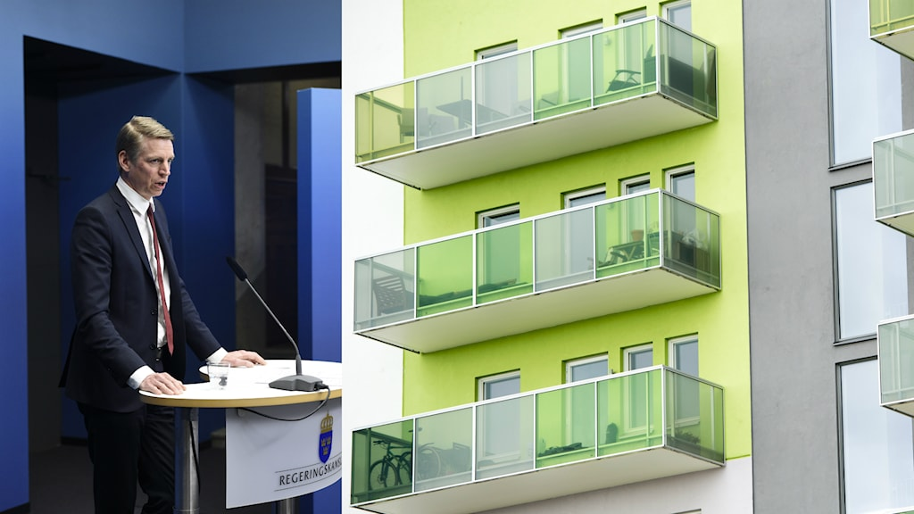 Regeringen, där Per Bolund (MP) är finansmarknadsminister, är överens med oppositionen och Vänsterpartiet om amoreteringskrav för personer som tar nya bolån. Foto: Anders Wiklund / Maja Suslin / TT