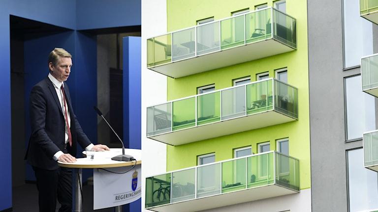 Министр финансовых рынков Пэр Булунд считает, что обязательное погашение ипотечных кредитов оздоровит перегретую ситуацию на жилищном рынке. Фото: Anders Wiklund / Maja Suslin / TT
