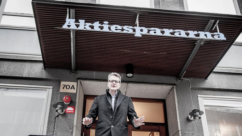 Carl Rosén vd på Aktiespararna. Foto: Magnus Hjalmarsson Neideman/TT