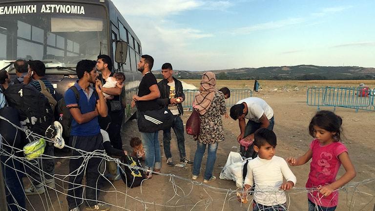 flyktingar gränsen Makedonien Grekland