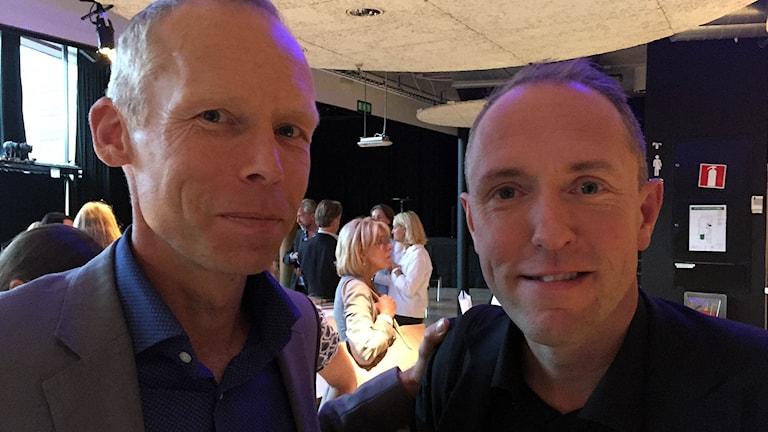 Johan Rockström och Mattias Klum.