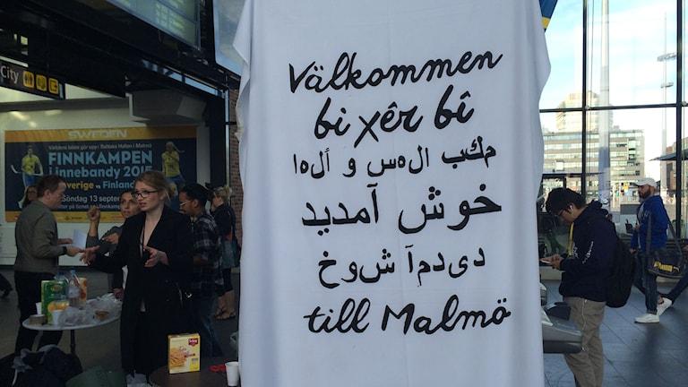 Frivillig flyktinghjälp Malmö C. Foto: Anna Bubenko/Sveriges Radio