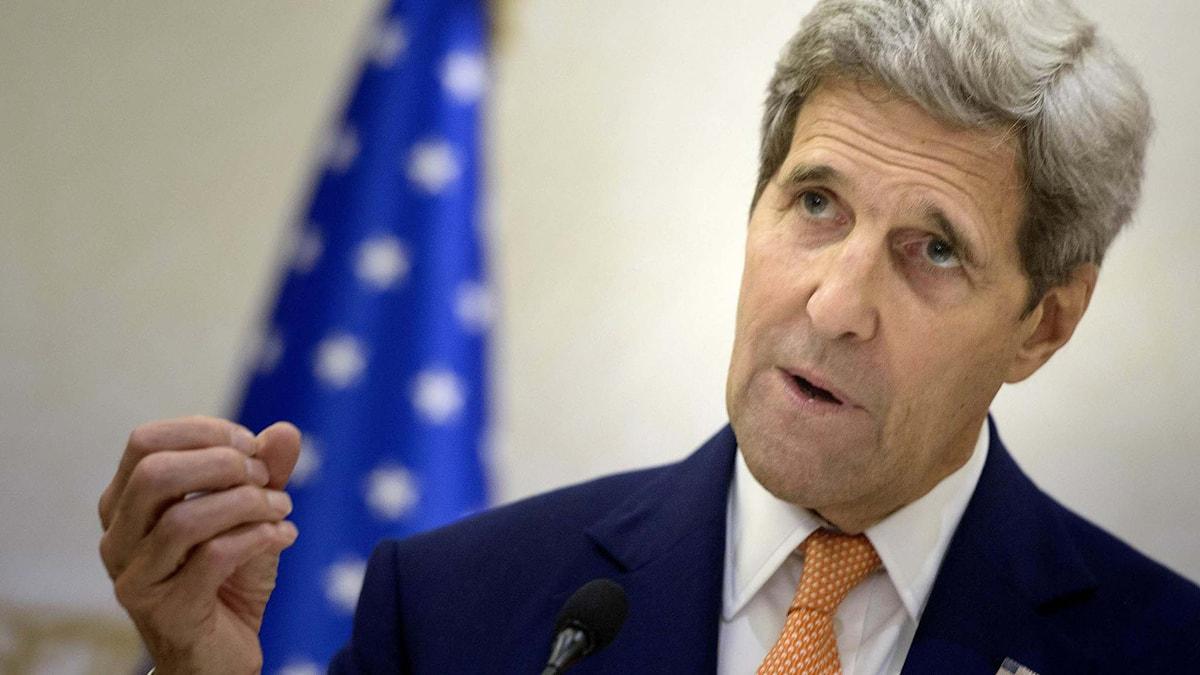 USA:s utrikesminister John Kerry. Foto: Brendan Smialowski/TT.