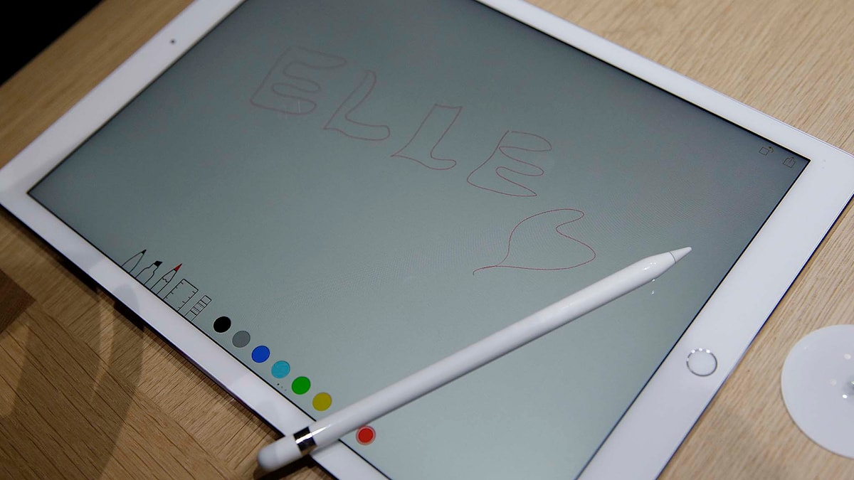 Apples nya större Ipad med penna. Foto: Eric Risberg/TT.