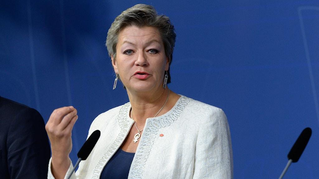 Arbetsmarknadsminister Ylva Johansson. Foto: TT.