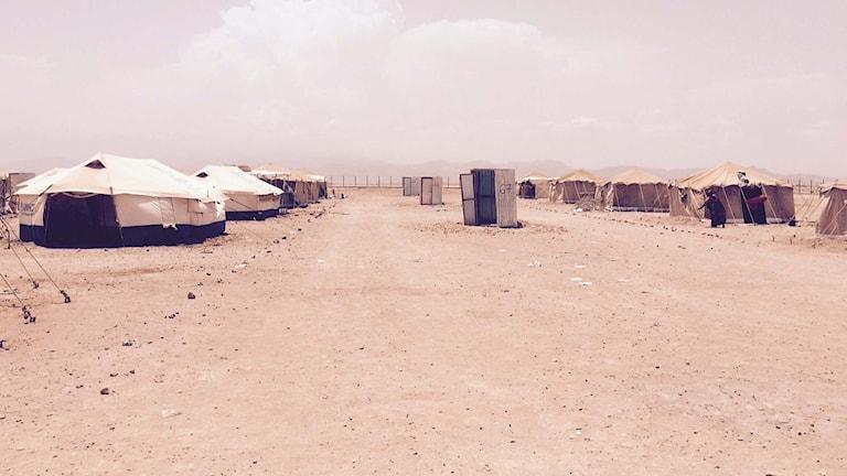 Markazilägret i Obokh som ligger i norra Djibouti. Foto Jesper Lindau/Sveriges Radio.