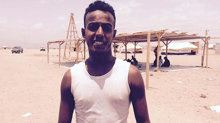 Den jemenitiske flyktingen Ofran. Foto: Jesper Lindau/Sveriges Radio.