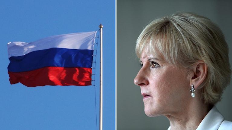 Utrikesministern Margot Wallström kallar upp den ryske ambassadören Foto: TT