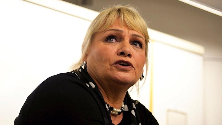 EU-politikern Soraya Post (FI). Foto: Vilhelm Stokstad/TT.