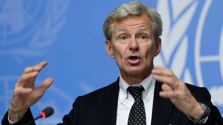 Jan Egeland, generalsekreterare Norska flyktingrådet. Foto: Martial Trezzini/TT.