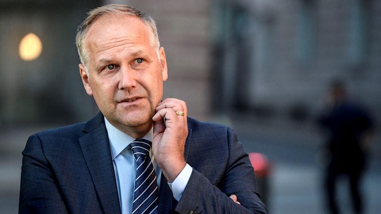 Vänsterpartiets partiledare Jonas Sjöstedt. Foto: Jessica Gow/TT.
