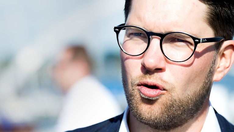 Sweden Democrat party leader Jimmie Åkesson. Photo: Rickard Nilsson/TT.