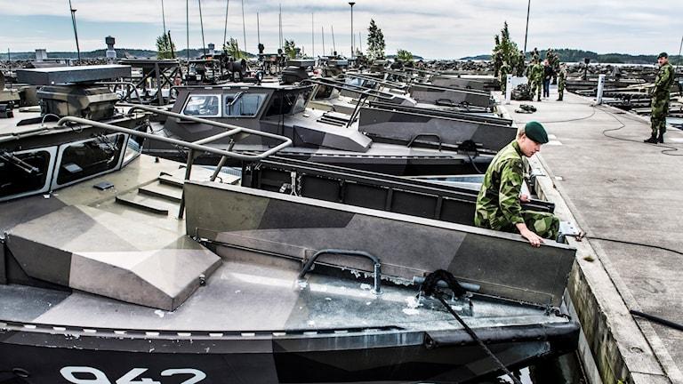På Amfibieregementet i Berga har ett liknande projekt redan tillämpats med goda resultat. Foto: Lars Pehrson/TT.