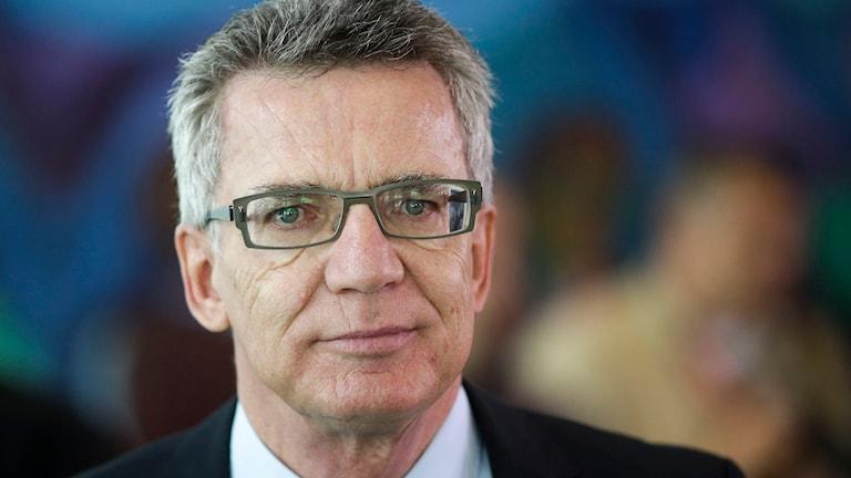 Tysklands inrikesminister Thomas de Maizière. Foto: Markus Schreiber/TT.