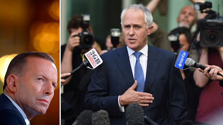 Tony Abbott och Malcolm Turnbull.