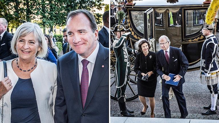 Stefan Löfven tillsammans med sin hustru Ulla. Kungaparet. Foto: Tomas Oneborg/TT.