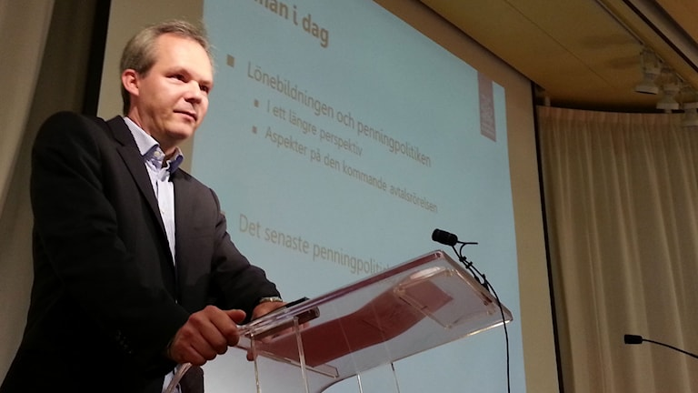 Vice riksbankschef Per Jansson. Foto: Anders Jelmin/Sveriges Radio.