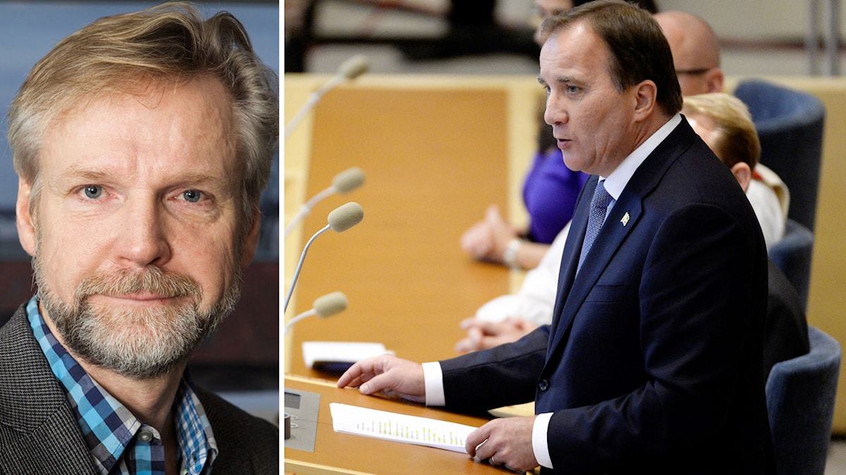 Ekots inrikespolitiske kommentator Tomas Ramberg och statsminister Stefan Löfven. Foto: Pablo Dalence/Sveriges Radio och Jessica Gow/TT.
