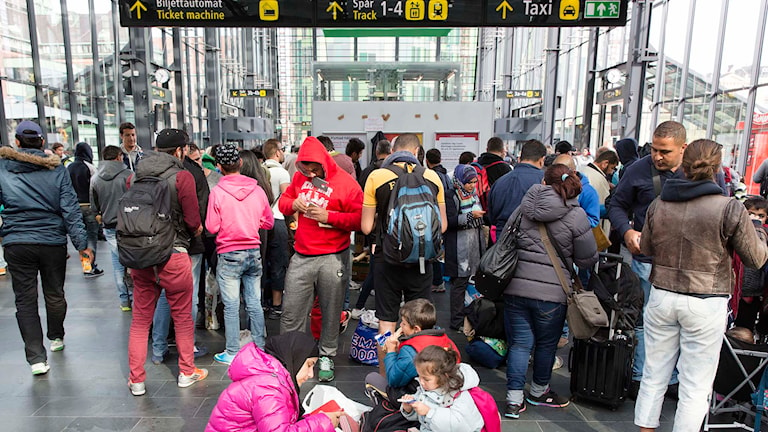 Refugees at Malmö central station. Photo: Ola Torkelsson/TT