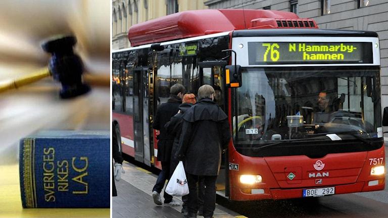 Buss från SL, domstolsklubba