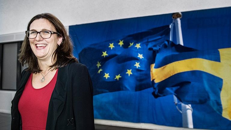 EU-kommissionens handelsansvariga Cecilia Malmström. Foto: Tomas Oneborg/SvD/TT.