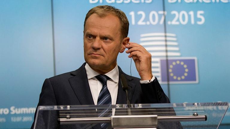 EU-ordföranden Donald Tusk. Foto: Virginia Mayo/TT.