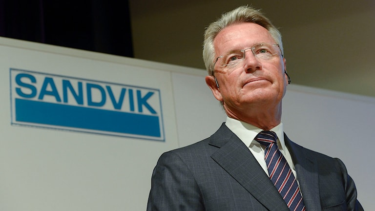 Björn Rosengren, ny vd för Sandvik, presenterades under en pressträff i Stockholm. Foto: Jonas Ekströmer/TT.