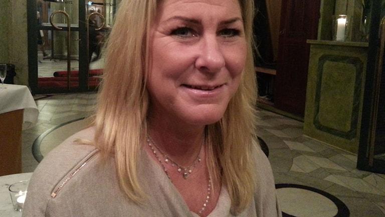 Städföretagaren Pamela Adolfsson är bekymrad för sina anställda. Foto: Anders Jelmin/Sveriges Radio.