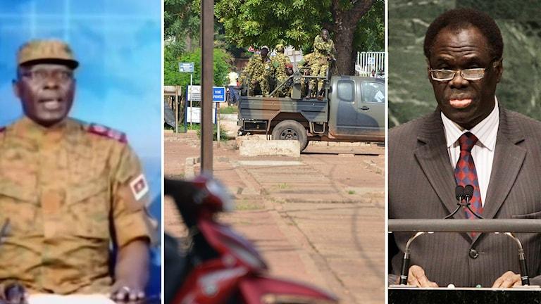 Överstelöjtnant Mamadou Bamba talade på nationell tv i Burkina Faso under onsdagen. I dag uppges interimpresidenten Michel Kafando ha släpps fri.
