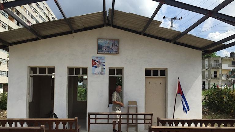 Här byggs den första kyrkan på Kuba sedan revolutionen 1959.