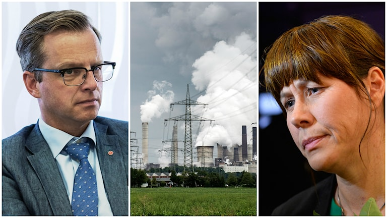 Näringsminister Mikael Damberg och miljöminister Åsa Romson. Foto: TT.