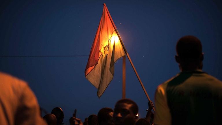 Akrivbild från protester mot kuppen som misslyackdes. Foto: Theo Renaut/TT.