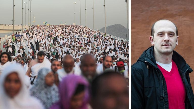 Elvir Gigovic, ordförande för Sveriges muslimska råd kritiserar Saudiarabien för hantering av Hajj  Foto:TT
